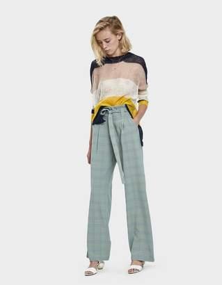Stelen Cici Plaid Tie-Belt Trousers