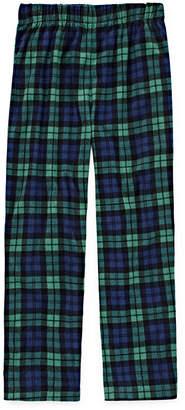 CLOUD 9 Green Plaid Print Fleece Pajama Pant - Boys 4-20