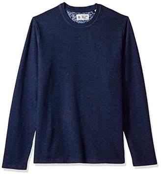 Original Penguin Men's Long Sleeve Terry Crew Neck Sweater