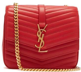 Saint Laurent Sulpice Small Leather Bag - Womens - Red