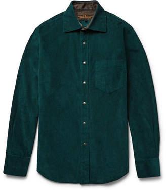 Freemans Sporting Club - Hopkins Cotton-Corduroy Shirt - Men - Emerald