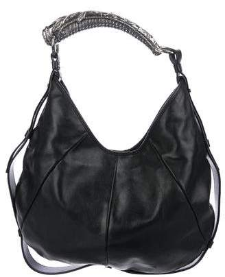 Saint Laurent Mombasa Leather Hobo