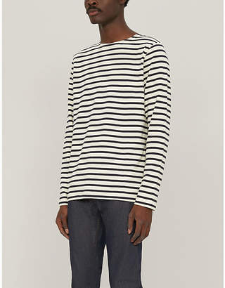 Samsoe & Samsoe Bindslev striped cotton-knit T-shirt