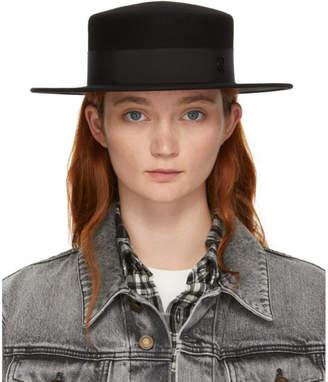 Maison Michel Black Felt Waterproof Kiki Hat