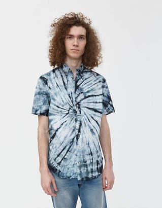Gitman Brothers GV x Need Supply Co. Tie Dye Button Down Shirt in Black