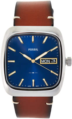 Fossil FS5334 Silver-Tone & Brown Watch