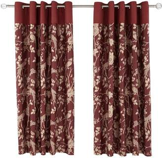 Showing 10 Red Flower Curtains At Very Laurence Llewellyn Bowen Royal Rose Garden Eyelet