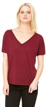 Clementine Apparel Women's Flowy Simple V-Neck T-Shirt