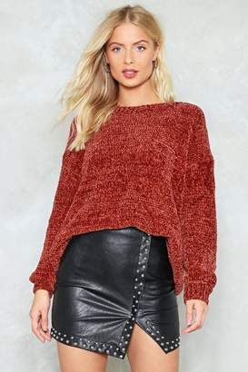 Nasty Gal The Bigger the Better Chenille Sweater