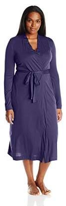 Yummie Women's Plus-Size Pima Jersey Long Robe