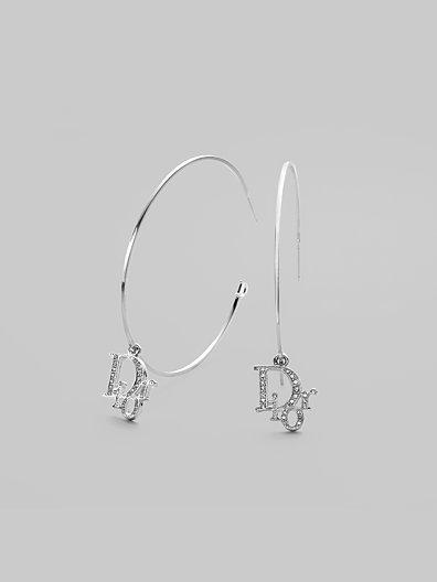 Dior Logo Hoop Earrings/ 1¼