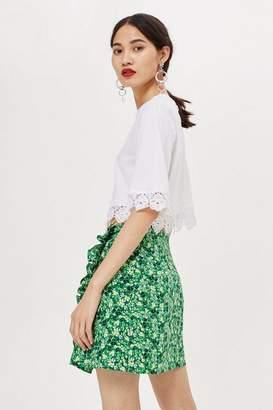 Topshop Petite Meadow Ruffle Mini Skirt