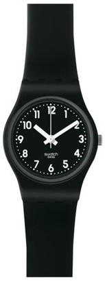 Swatch Lady Black Single Rubber Watch LB170E