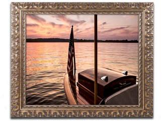 """Chippewa Jason Shaffer 'Chippewa Lake' Ornate Framed Art - 14"""" x 11"""""""