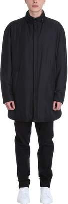 Ahirain Black Polyester New Techno Long Caban Down Jacket