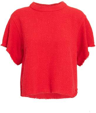 IRO Devan Red Tweed Top