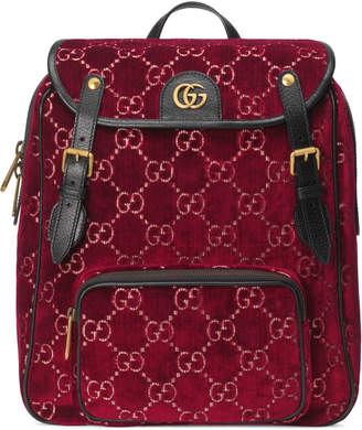 Gucci Small GG velvet backpack