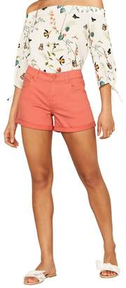 Oasis Coral Denim Shorts