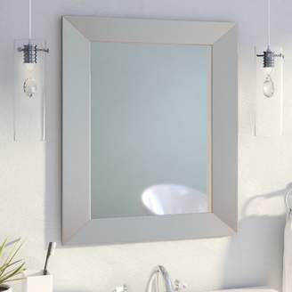Mercury Row Modern Rectangle Wood Wall Mirror