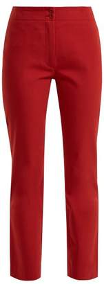 A.P.C. Iggy Straight Leg Cropped Cotton Twill Trousers - Womens - Light Red