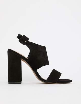Aldo leather block heel sandals