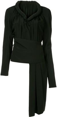 Yohji Yamamoto Pre-Owned long-sleeve asymmetric top