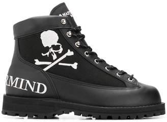 Mastermind Japan logo side zip boots