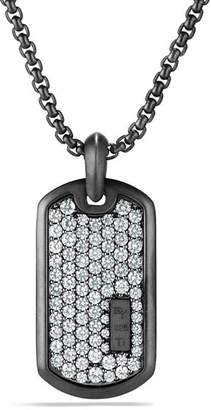 David Yurman Pavé Tag with Grey Sapphire in Black Titanium
