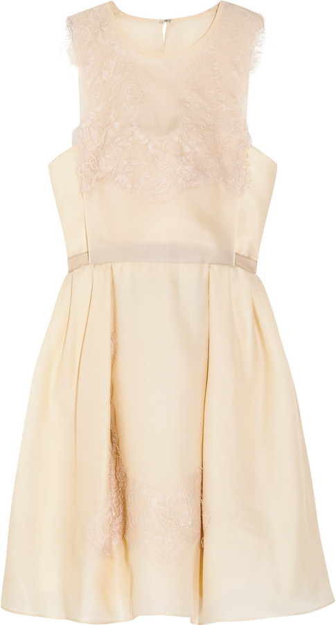 Carven Lace and silk organza-twill dress