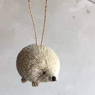 The Christmas Home White Bristle Hedgehog Christmas Decoration