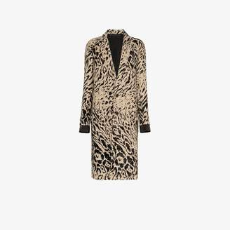 2b6879c5b4d8 Haider Ackermann animal print wool coat