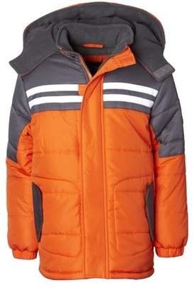 iXtreme Hooded Striped Colorblock Puffer Jacket Coat (Baby Boys & Toddler Boys)