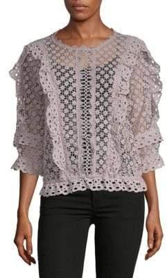 Crochet Ruffle Top