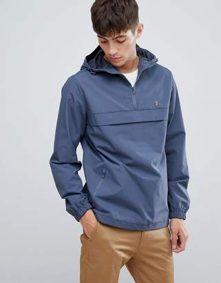 Farah Mani hooded overhead jacket in gray