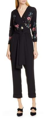 Ted Baker Eleaann Oracle Floral Crop Jumpsuit