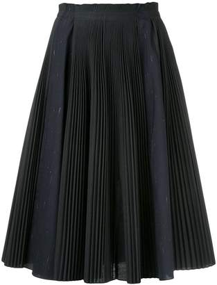 Jil Sander Navy pleated midi skirt