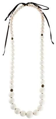 Isabel Marant Large Wood Bead Necklace