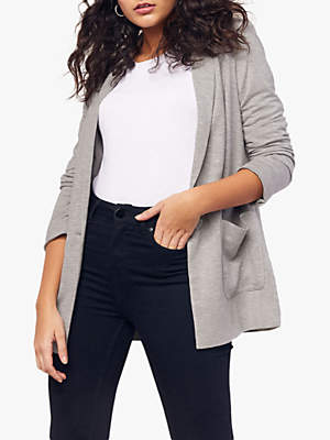 Oasis Lightweight Jersey Jacket, Mid Grey