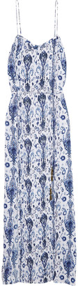 Vix Aisha Dany pintucked voile maxi dress $242 thestylecure.com