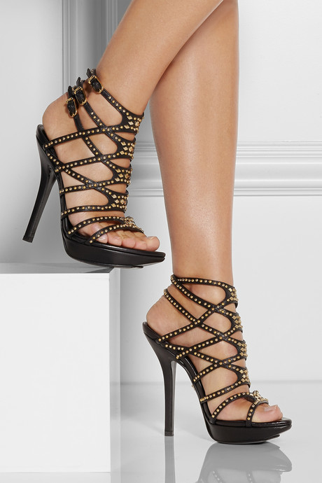 Versace Studded leather sandals