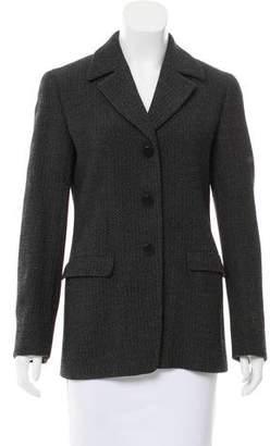 Giorgio Armani Virgin Wool Herringbone Blazer
