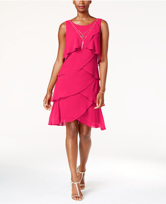 SL Fashions Tiered Necklace Dress $89 thestylecure.com