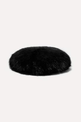 Emma Brewin - Faux Fur Beret - Black