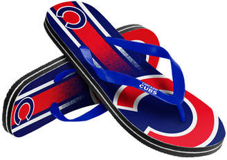 Forever Collectibles Chicago Cubs Gradient Big Logo Flip Flops