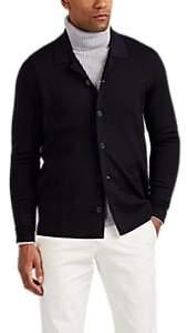 P. Johnson Men's Merino Wool-Blend Cardigan - Navy