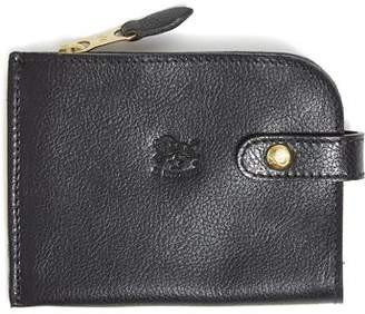 Il Bisonte Cowhide Zipper Wallet in Black