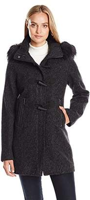 Nautica Women's Novelty Wool with Toggle Closure/ Faux Fur Trim Hood $49.31 thestylecure.com