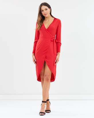 Oasis Sexy Wrap Shirt Dress