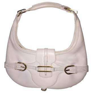 Jimmy Choo 100% Authentic White Leather Tulita Shoulder Bag