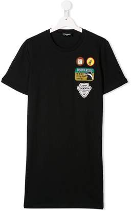 DSQUARED2 TEEN patches T-shirt dress